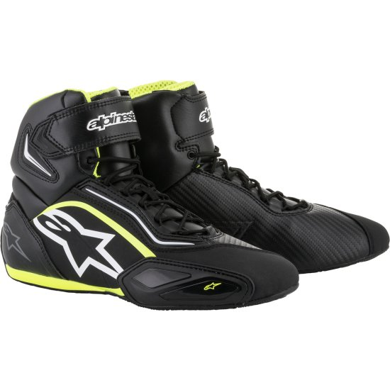 Botas ALPINESTARS Faster-2 Black / White / Yellow Fluo