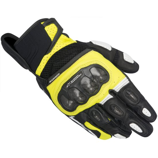 ALPINESTARS SPX Air Carbon Black / Yellow Fluo Gloves