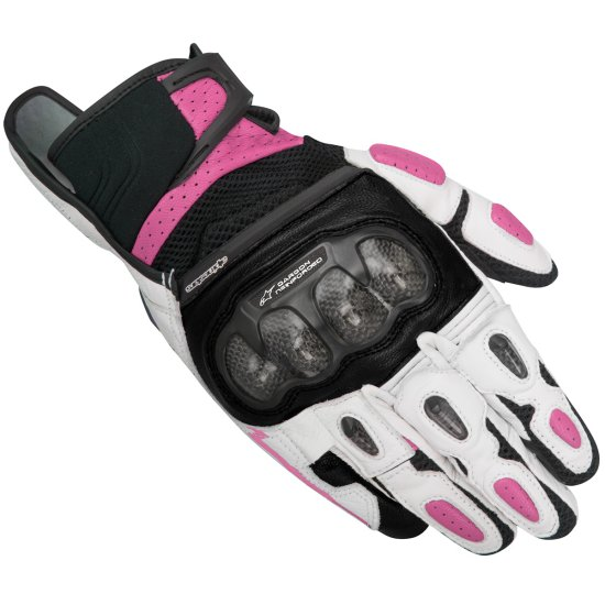 Guantes ALPINESTARS Stella SPX Air Carbon Lady Black / White / Fuchsia
