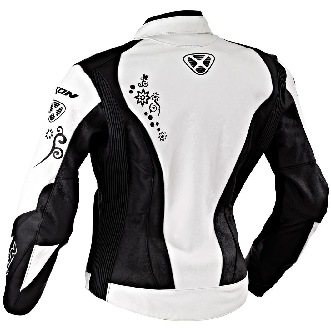Veste moto cuir femme ixon