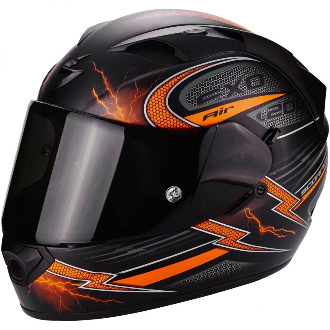 casque scorpion exo 1200 air fulgur matt black orange motocard. Black Bedroom Furniture Sets. Home Design Ideas