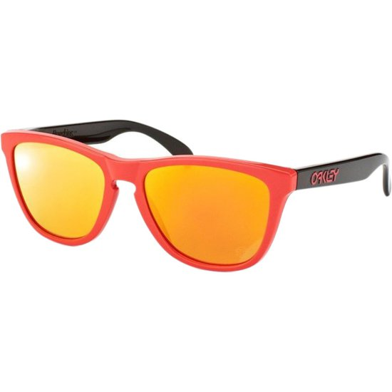 4c0c7c0a2e OAKLEY Frogskins Heritage Collection Red   Fire Iridium Sun glasses ...