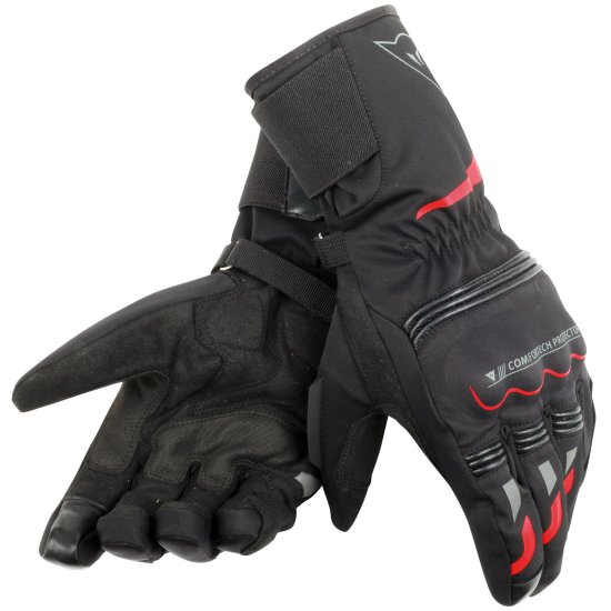 Guanto DAINESE Tempest D-Dry Long Black / Red