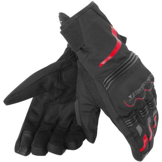 DAINESE Tempest D-Dry Short Black / Red Gloves
