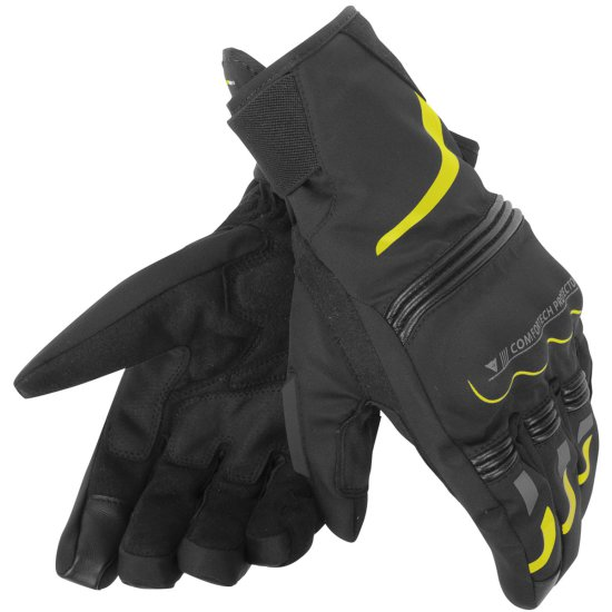 Guantes DAINESE Tempest D-Dry Short Black / Yellow-Fluo