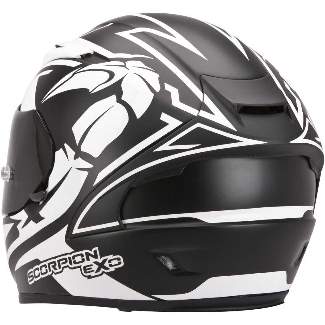 casco scorpion exo 2000 evo air track matt black white motocard. Black Bedroom Furniture Sets. Home Design Ideas