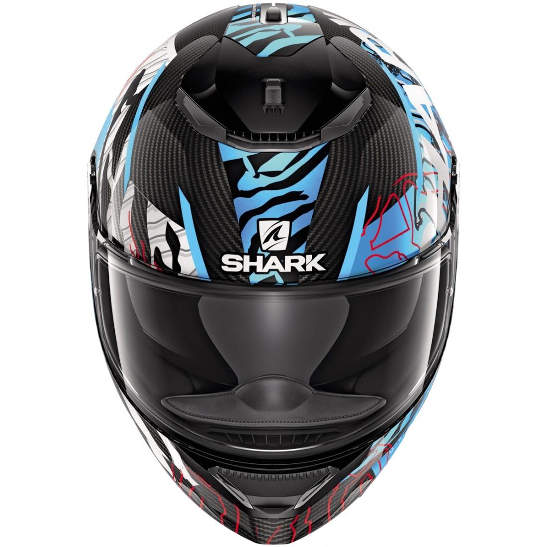 shark spartan carbon daksha carbon blue white helmet. Black Bedroom Furniture Sets. Home Design Ideas