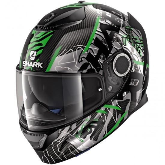 shark spartan carbon daksha carbon green black helmet. Black Bedroom Furniture Sets. Home Design Ideas