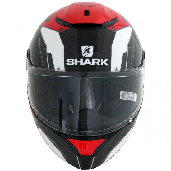 shark spartan carbon bionic carbon red anthracite helmet motocard. Black Bedroom Furniture Sets. Home Design Ideas