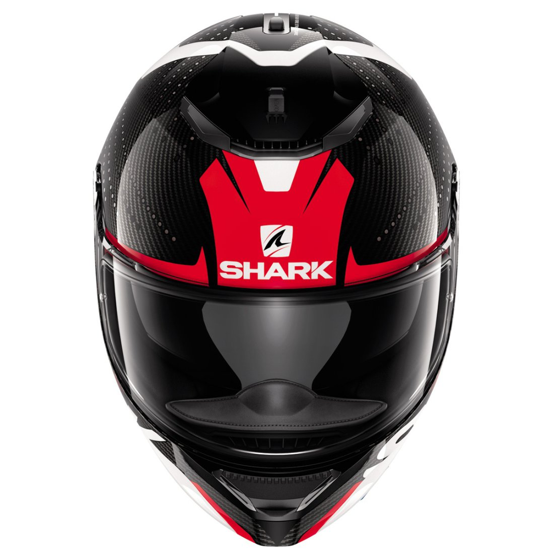 casque shark spartan carbon cliff carbon red white motocard. Black Bedroom Furniture Sets. Home Design Ideas
