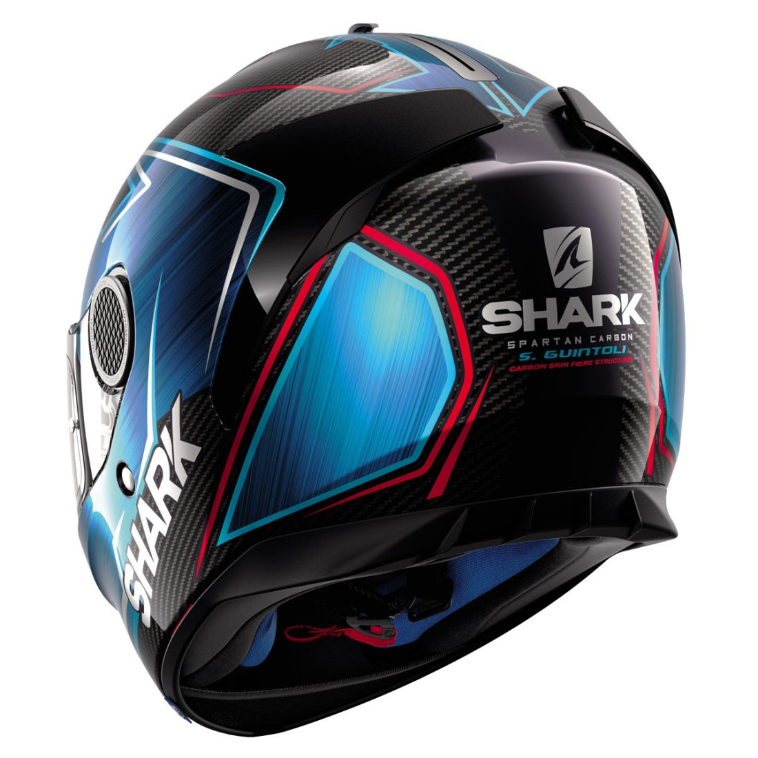 casque shark spartan carbon guintoli carbon chrom blue motocard. Black Bedroom Furniture Sets. Home Design Ideas