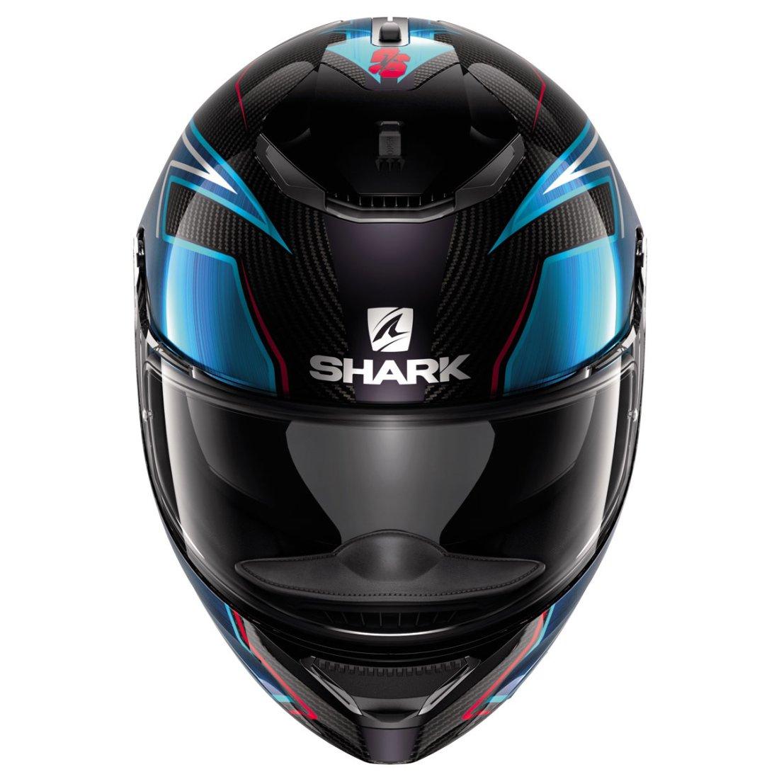 shark spartan carbon guintoli carbon chrom blue helmet. Black Bedroom Furniture Sets. Home Design Ideas