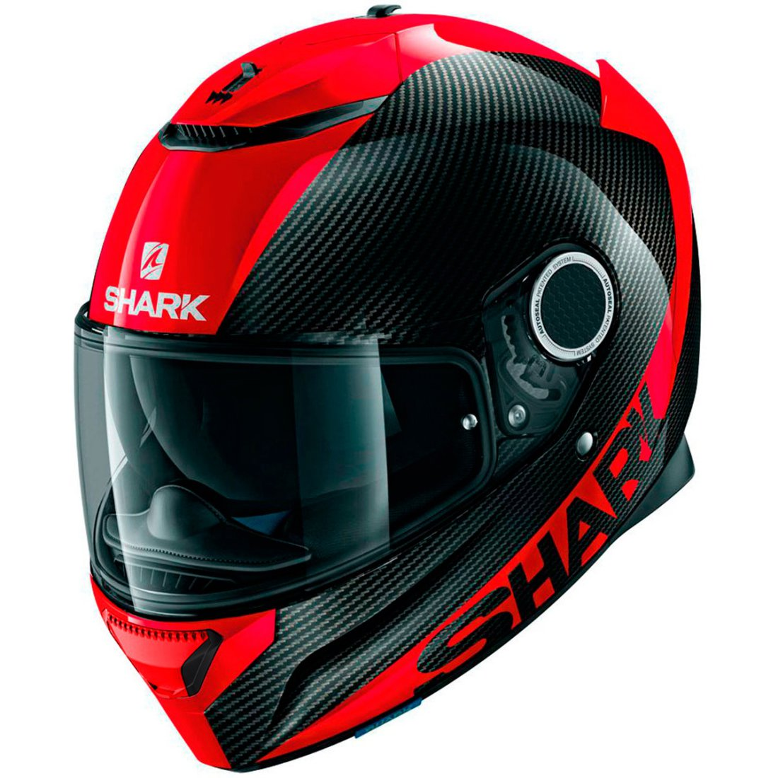 shark spartan carbon red helmet motocard. Black Bedroom Furniture Sets. Home Design Ideas