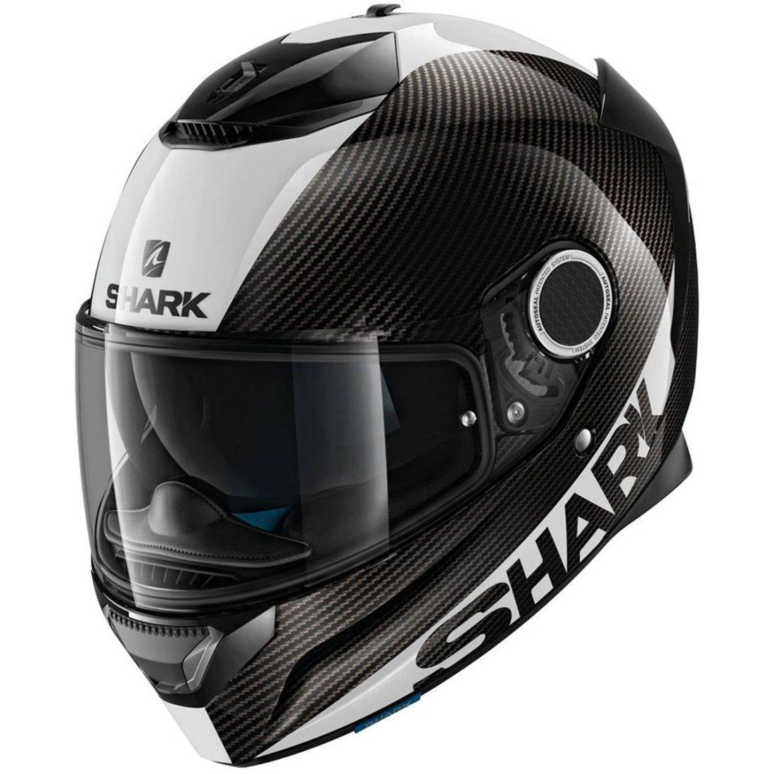 Shark Spartan Carbon White Helmet Motocard