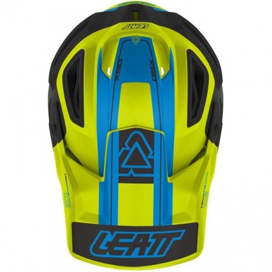 Casco LEATT DBX 5.0 Composite V12 Lime / Blue