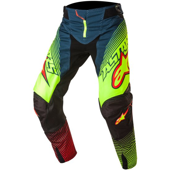 ALPINESTARS Techstar 2017 Factory Petrol / Yellow Fluo / Red Pant