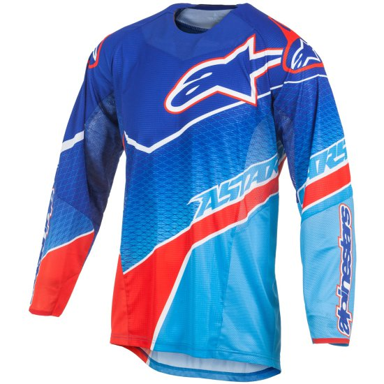 Maglietta ALPINESTARS Techstar 2017 Venom Blue / Cyan / Red