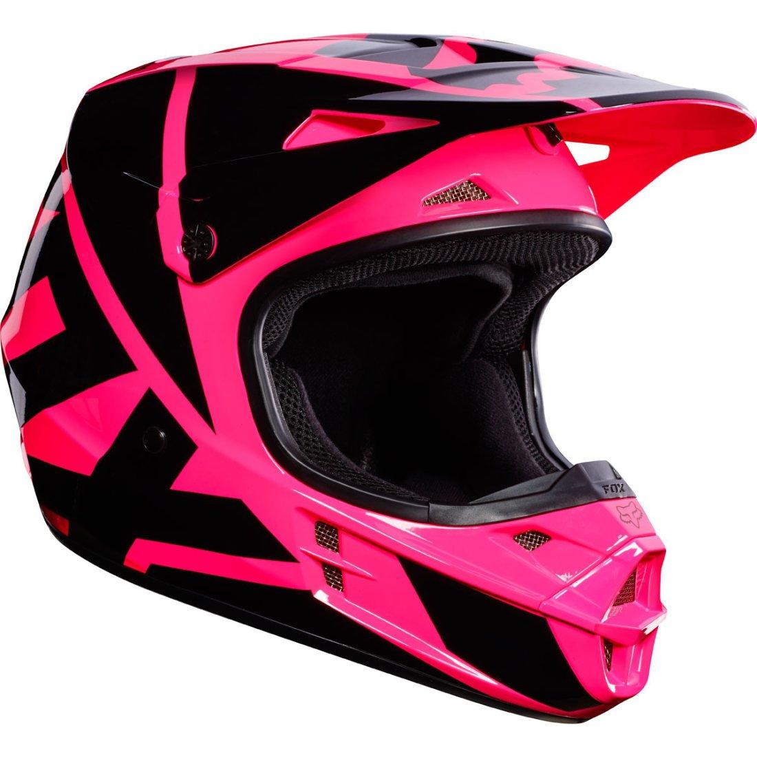 fox v1 race 2017 pink helmet motocard. Black Bedroom Furniture Sets. Home Design Ideas
