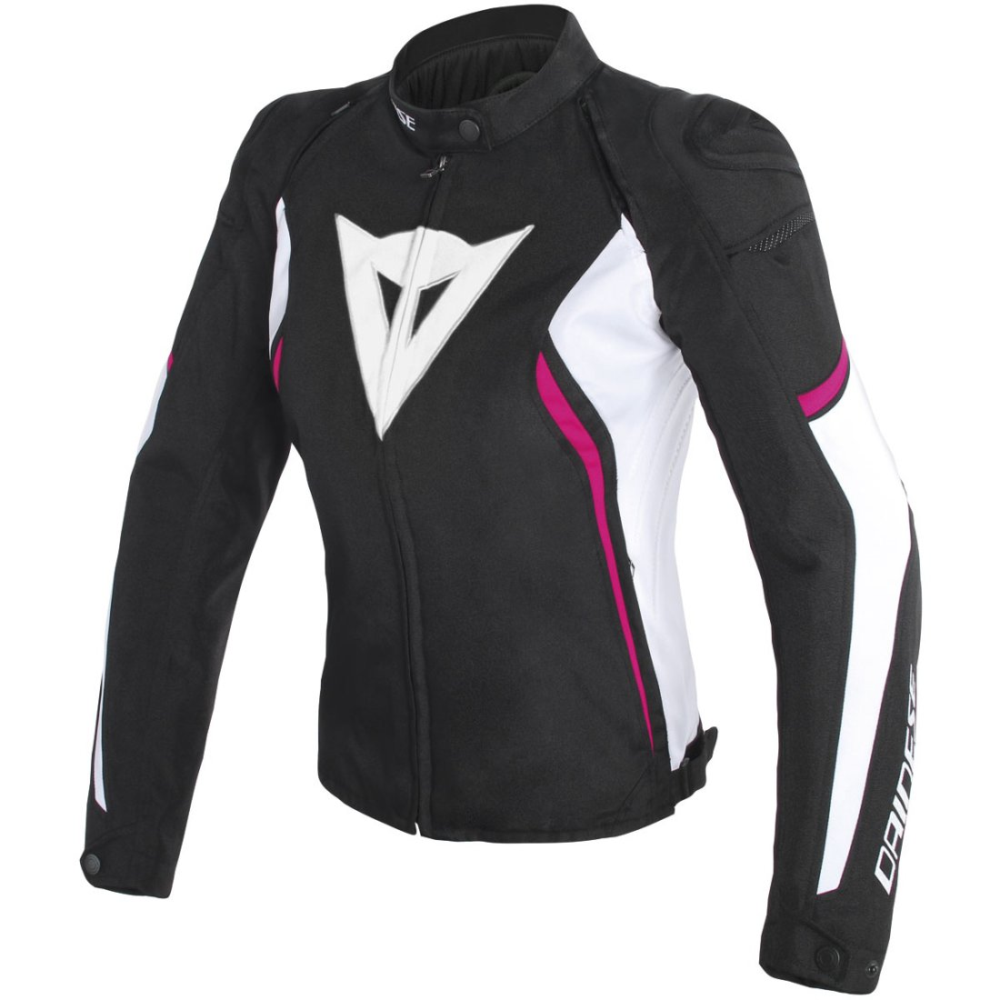 dainese avro d2 tex lady black white fuxia jacket. Black Bedroom Furniture Sets. Home Design Ideas