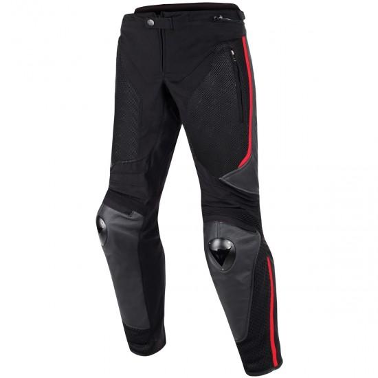 Pantalon DAINESE Mig Leather-Tex Black / Red-Lava