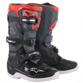 ALPINESTARS Tech 7S Junior Black / Dark Grey / Red Fluo