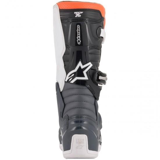 Stivale ALPINESTARS Tech 7S Junior Black / Grey / White / Orange Fluo