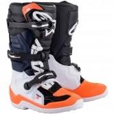 Tech 7S Junior Black / White / Orange Fluo