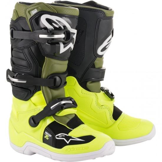 Botas ALPINESTARS Tech 7S Junior Yellow Fluo / Military Green / Black