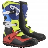 ALPINESTARS Tech T Black / Red / Blue / Yellow Fluo