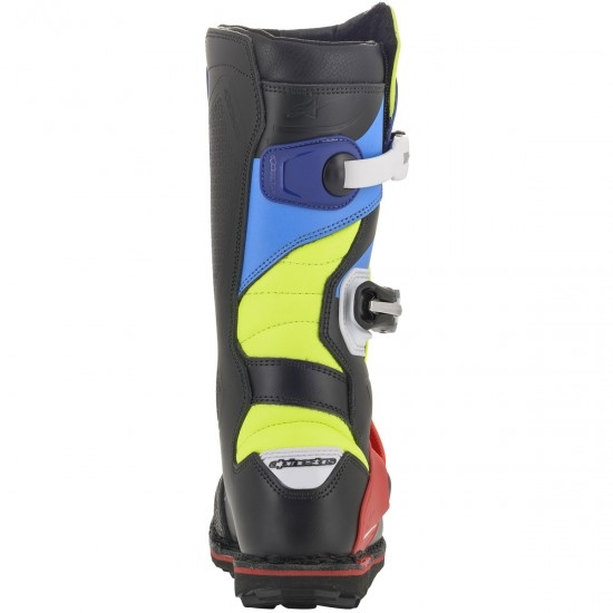 Bottes ALPINESTARS Tech T Black / Red / Blue / Yellow Fluo