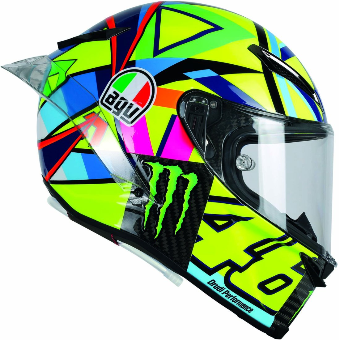 casque agv pista gp r rossi soleluna 2016 motocard. Black Bedroom Furniture Sets. Home Design Ideas