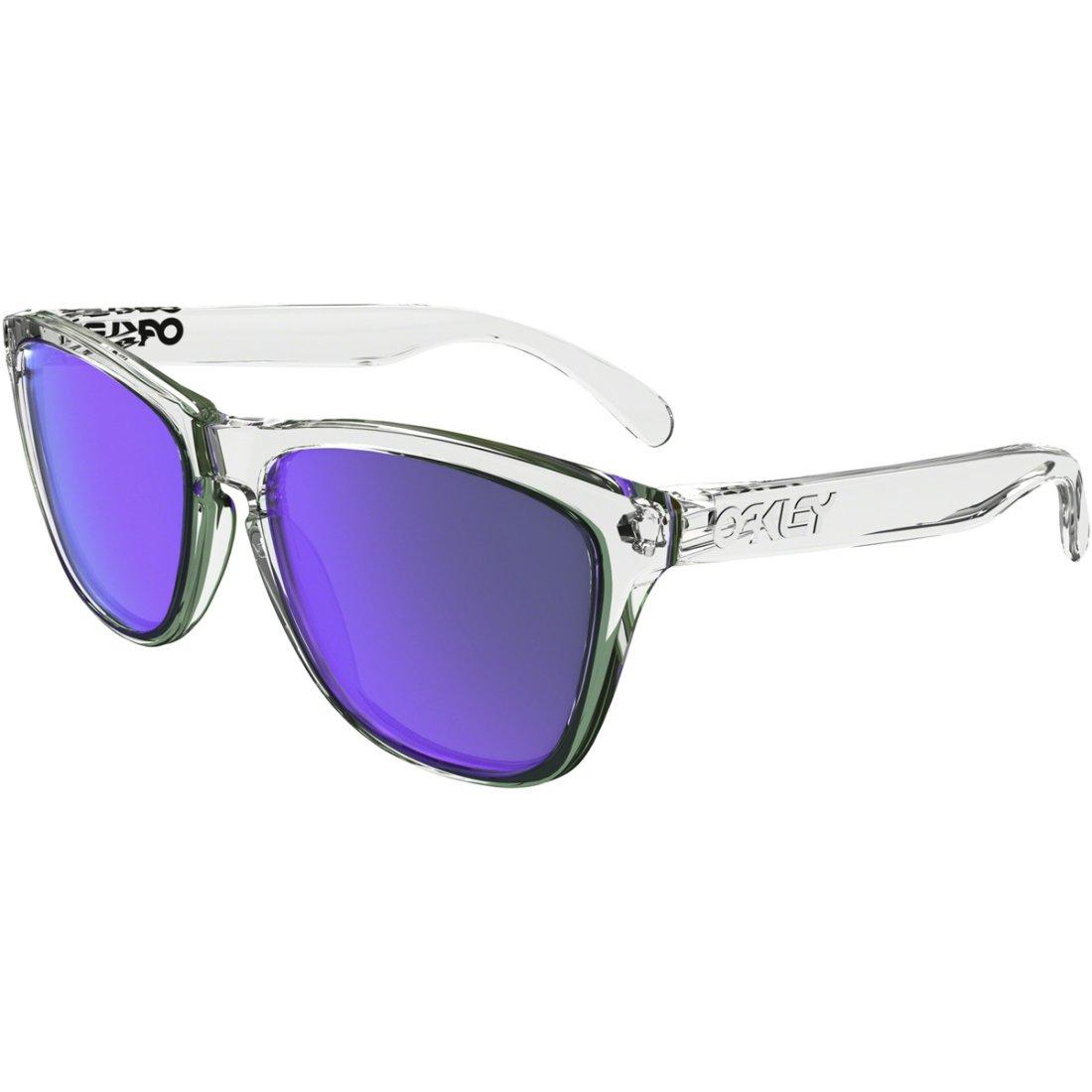 9097f33658 OAKLEY Frogskins Polished Clear   Violet Iridium Mask   Goggle · Motocard