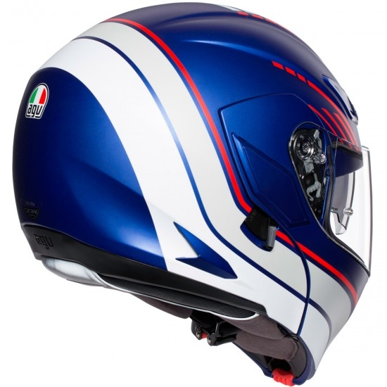 Helm AGV Compact ST Boston Matt Blue / White / Red