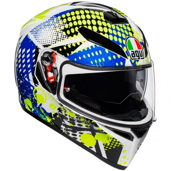 Casco AGV K-3 SV Pinlock Pop White / Blue / Lime