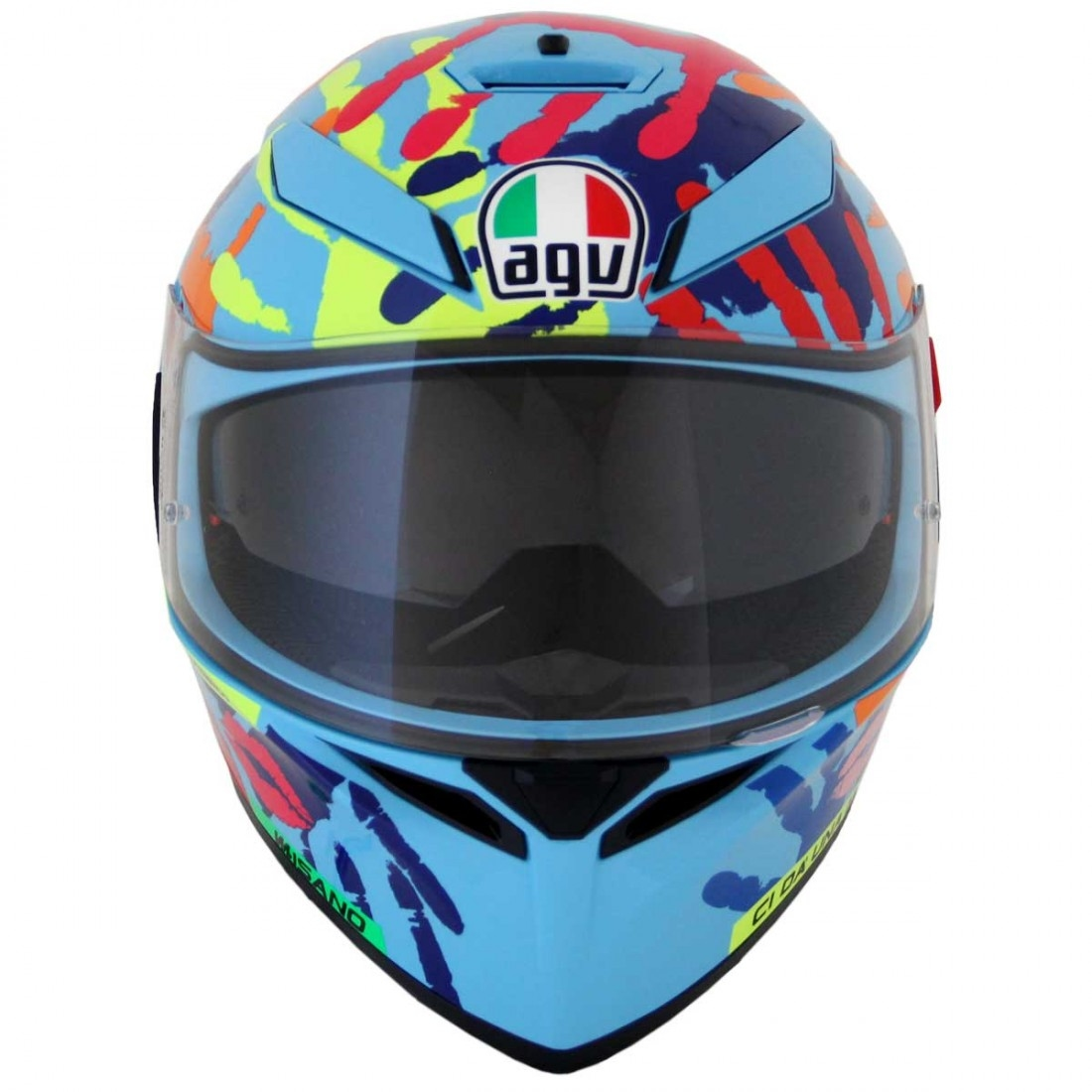 agv k 3 sv pinlock rossi misano 2014 helmet motocard. Black Bedroom Furniture Sets. Home Design Ideas