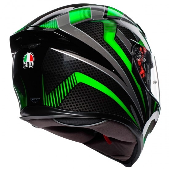 AGV K-5 S  Hurricane 2.0 Black / Green Helmet