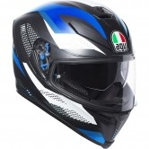 AGV K-5 S Marble Matt Black / White / Blue