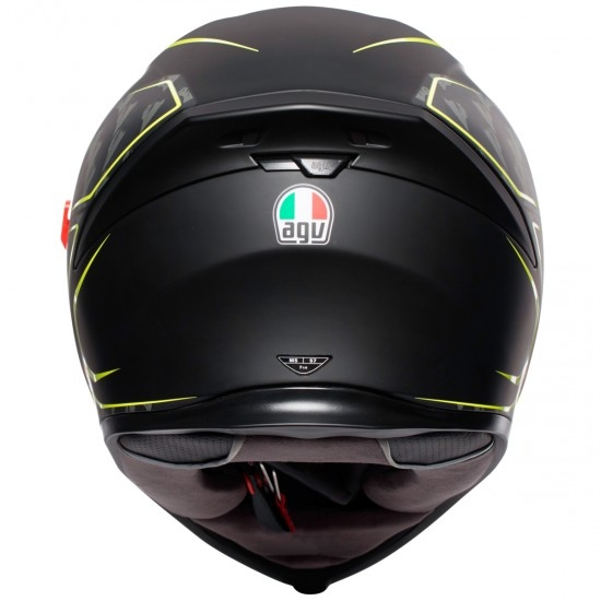 Helm AGV K-5 S Tornado Black / Yellow Fluo