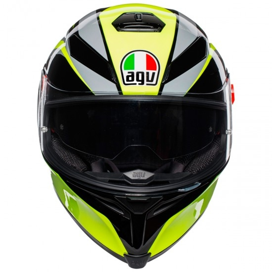 Casco AGV K-5 S Typhoon Black / Grey / Yellow Fluo