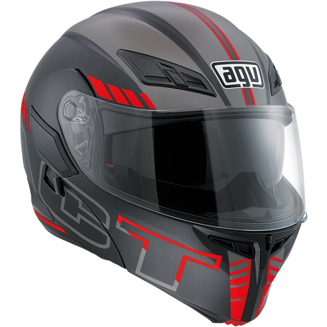 Casco AGV Compact ST Seattle Matt Black   Silver   Red · Motocard 8a94d00f48b