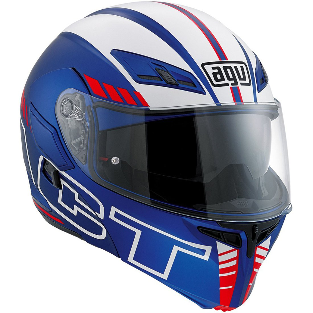 AGV Compact ST Seattle Matt Blue / White / Red Helmet