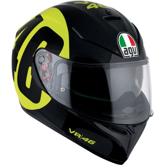 Casco AGV K-3 SV Pinlock Rossi Bollo 46 Black / Yellow