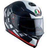 AGV K-5 S Darkstorm Matt Black / Red