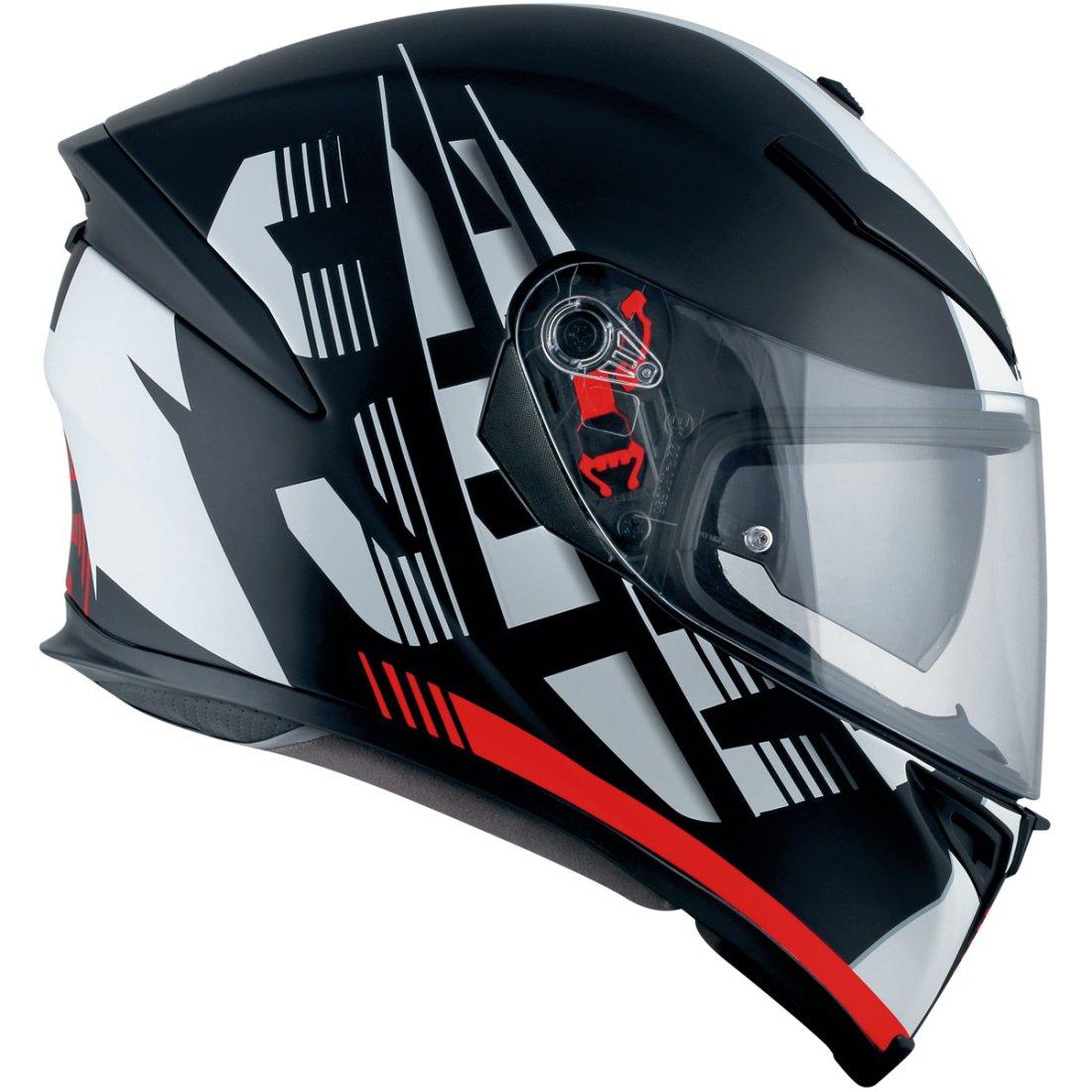 agv k 5 s darkstorm matt black red helmet motocard