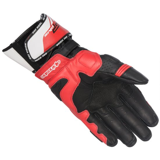 Gants ALPINESTARS Gp Plus R Black / White / Red