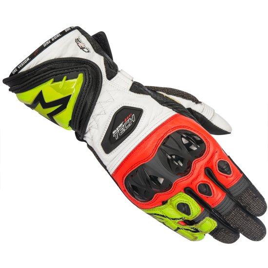 ALPINESTARS Supertech Black / Yellow Fluo / Red Gloves