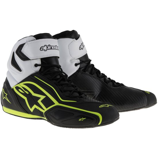 Stiefel ALPINESTARS Faster-2 Waterproof Black / White / Yellow Fluo