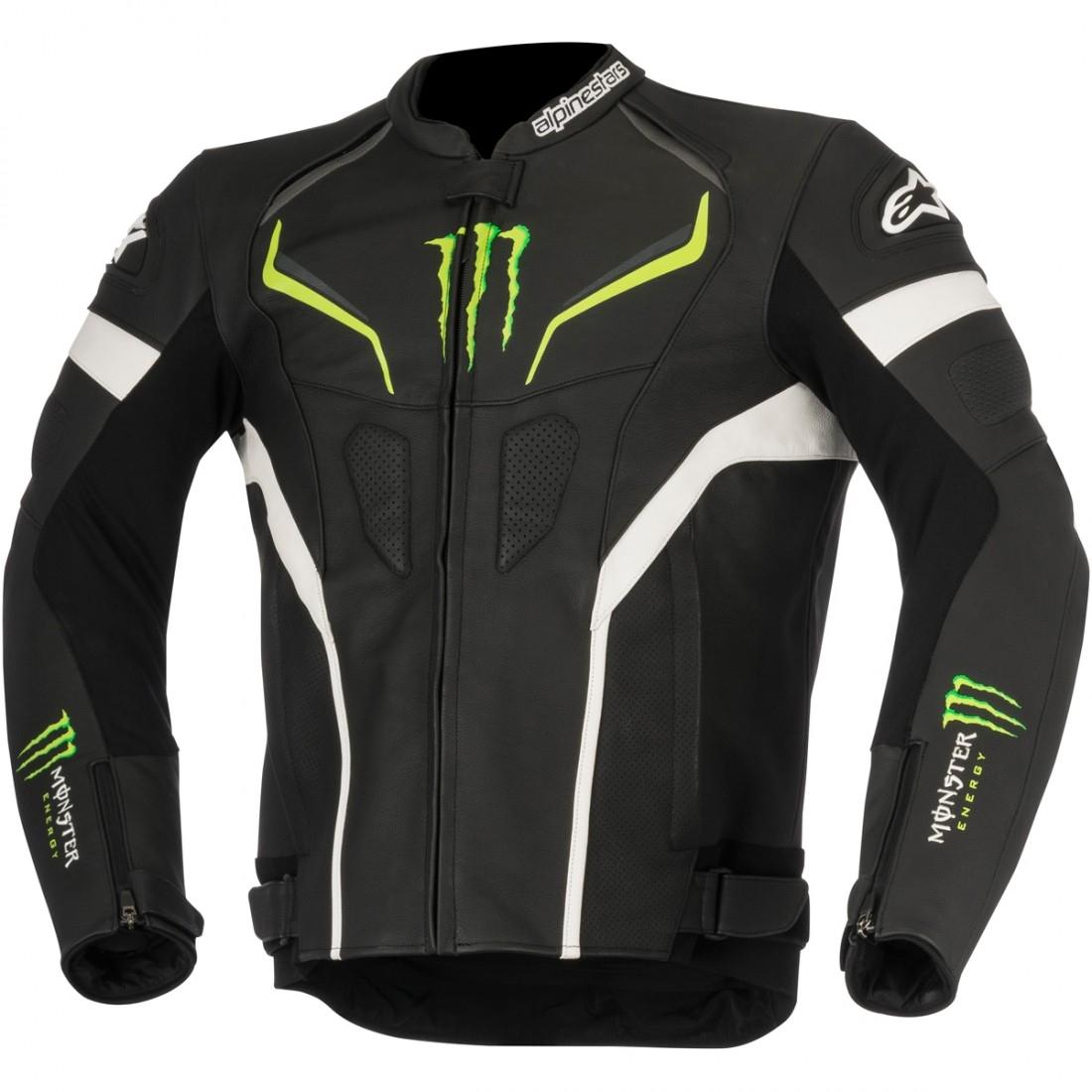alpinestars shadow monster black white green jacket motocard. Black Bedroom Furniture Sets. Home Design Ideas