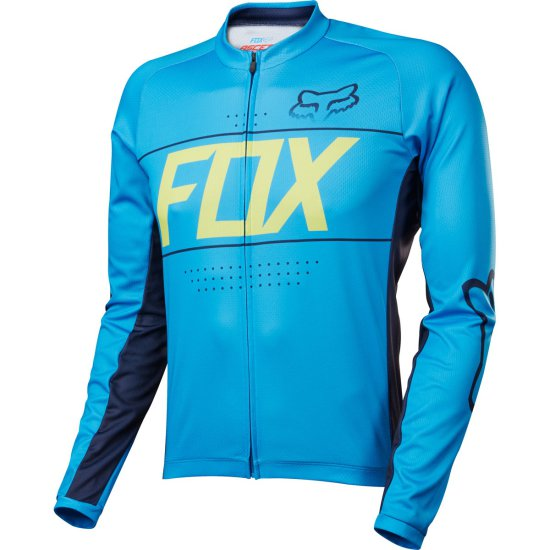 FOX Ascent LS Cyan Jersey