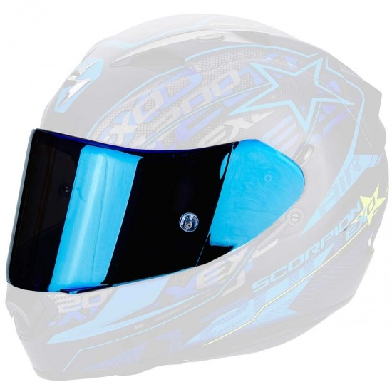 Accesorio casco SCORPION KDF 14-3 Blue Mirrored